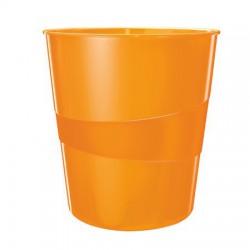 """Papírkosár, 15 liter, LEITZ """"Wow"""", metál narancssárga"""