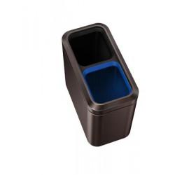 Nyitott tetejű szelektív szemetes, rozsdamentes acél, 20 l, SIMPLEHUMAN, sötét bronz
