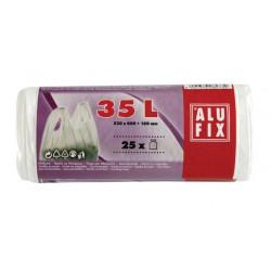 Szemeteszsák, köthető füllel, 35 l, 25 db, ALUFIX