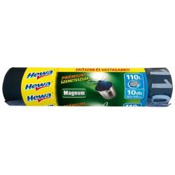 """Szemeteszsák, önzáró szalagos, 110 l, 10 db, HEWA """"Magnum"""""""