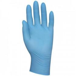 Védőkesztyű, egyszer használatos, nitril, M/ 8-as méret, púder nélküli