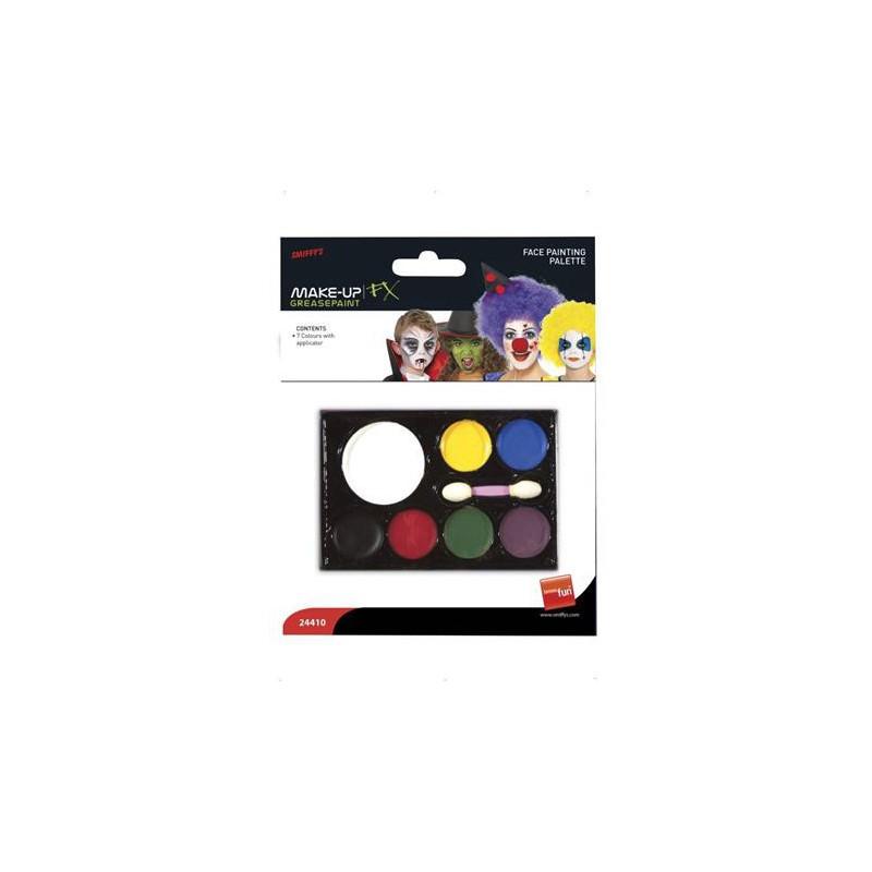Arcfesték, szivaccsal, 7 különböző szín