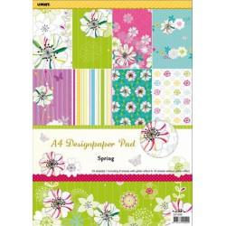Mintás kartonpapír csomag, A4, virágmintás