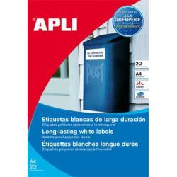 Etikett, 30 mm kör, poliészter, időjárásálló, APLI, 960 etikett/csomag