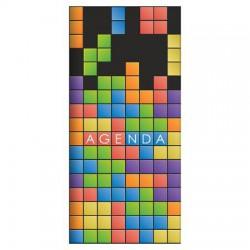 """Zsebnaptár, fekvő elrendezésű, DAYLINER, """"Colors"""", game"""
