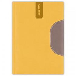 """Tárgyalási napló, B5, DAYLINER, """"Memphis"""", sárga-zsürke"""