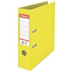 "Iratrendező, 75 mm, A4, PP, élvédő sínnel, ESSELTE ""Colour`Ice"", sárga"