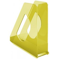 """Iratpapucs, műanyag, 68 mm, ESSELTE """"Colour`Ice"""", sárga"""