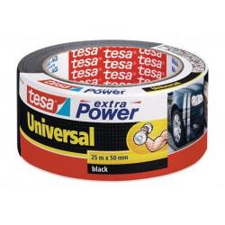 """Szövetszalag, univerzális, 50 mm x 25 m, TESA """"extra Power"""", fekete"""