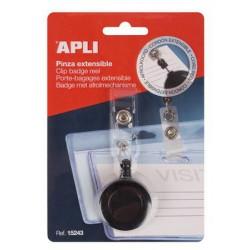 Kihúzható patentos azonosítókártya tartó, APLI, fekete