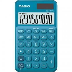 """Számológép, asztali, 10 számjegy, CASIO """"SL 310"""" kék"""