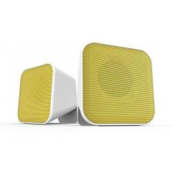 """Hangszóró, 2.0, sztereó, 6W, USB, SPEEDLINK """"Snappy"""", fehér és sárga"""