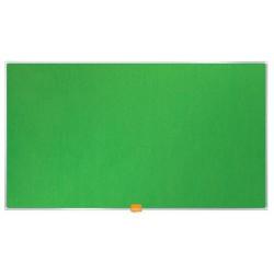 """Textiltábla, széles képarány, 40""""/59x50 cm, alumínium keret, NOBO, zöld"""