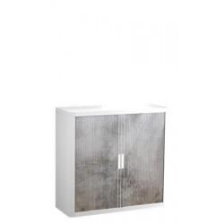 Szekrény, rolós ajtós, 2 polcos,PAPERFLOW, betonmintás