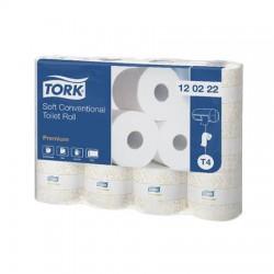 """Toalettpapír, T4 rendszer, 2 rétegű, 28,75 m, TORK, """"Premium"""", fehér"""