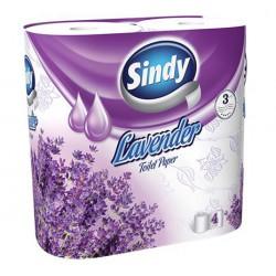 """Toalettpapír, 3 rétegű, 4 tekercses, """"Sindy"""", levendula"""