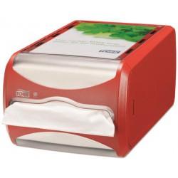 """Szalvéta adagoló, N4 rendszer, 14,5x19,1x30,7 mm, TORK, """"Xpressnap"""", piros"""