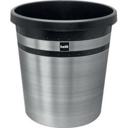 "Papírkosár, 18 liter, rozsdamentes acél, HELIT ""The pure elegance"", ezüst"