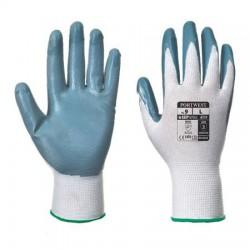 """Védőkesztyű, nitril, XL méret, """"Flexo Grip"""" szürke-fehér"""