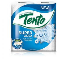 """Kéztörlő, tekercses, 2 rétegű, TENTO """"Super Aqua"""", fehér"""