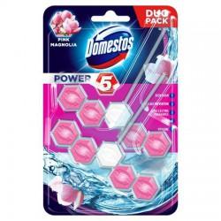 """WC fertőtlenítő, 2x55 g, DOMESTOS """"Power 5"""", pink magnólia"""