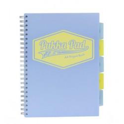 """Spirálfüzet, A4, vonalas, 100 lap, PUKKA PAD """"Pastel project book"""", vegyes szín"""