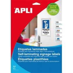 Etikett, 84,5x54 mm, hideglaminálható, APLI, 60 etikett/csomag
