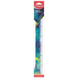 """Vonalzó, műanyag, 30 cm, MAPED """"Cosmic"""", vegyes színek"""