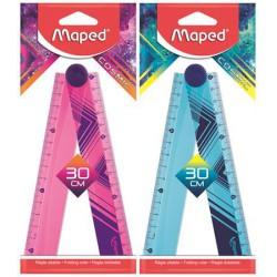 """Vonalzó, műanyag, összehajtható, 30 cm, MAPED """"Cosmic"""", vegyes színek"""
