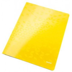"""Gyorsfűző, laminált karton, lakkfényű, A4, LEITZ """"Wow"""", sárga"""