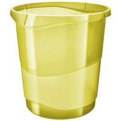 "Papírkosár, 14 liter, ESSELTE ""Colour` Ice"", áttetsző sárga"