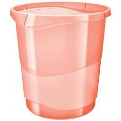 "Papírkosár, 14 liter, ESSELTE ""Colour` Ice"", áttetsző barack"