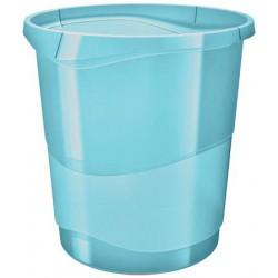 """Papírkosár, 14 liter, ESSELTE """"Colour` Ice"""", áttetsző kék"""