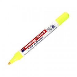 "Krétamarker, 2-3 mm, vágott, EDDING ""4095"", neon sárga"