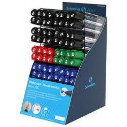 """Tábla- és filpchart marker display, 2-3 mm, kúpos, SCHNEIDER """"Maxx 290"""", vegyes színek"""