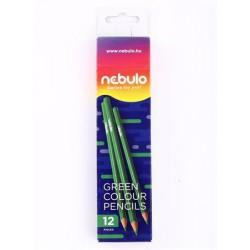 Színes ceruza, háromszögletű, NEBULO, zöld