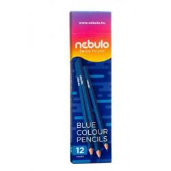 Színes ceruza, háromszögletű, NEBULO, kék