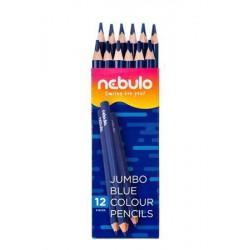 Színes ceruza, háromszögletű, jumbo, NEBULO, kék