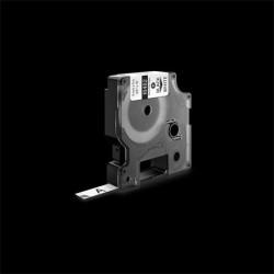 """Feliratozógép szalag, tartós poliészter, 9 mm x 5,5 m,  DYMO """"Rhino"""",fehér-fekete"""