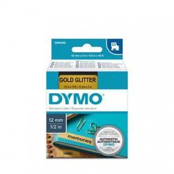"""Feliratozógép szalag, 12 mm x 3 m, DYMO """"D1"""", arany-fekete"""