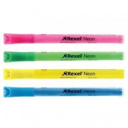 Táblamarker, 1-3 mm, REXEL, 4 különböző neon szín