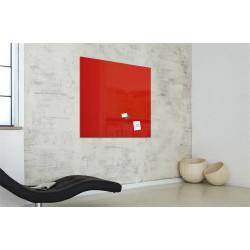 """Mágneses üvegtábla, 100x100 cm, SIGEL """"Artverum® """", piros"""