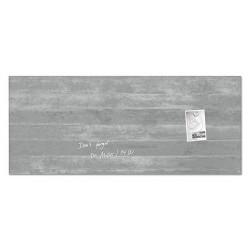 """Mágneses üvegtábla, 130x55 cm, """"Artverum® """" , beton mintázat"""