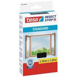 Szúnyogháló, ablakra, tépőzáras, 1,1 x 1,3 m, TESA, antracit