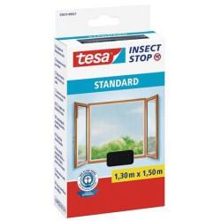 Szúnyogháló, ablakra, tépőzáras, 1,3 x 1,5 m, TESA, antracit
