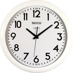 Falióra, 39,5 cm, SECCO, fehér keretes
