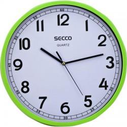 Falióra, 29,5 cm, SECCO, zöld keret