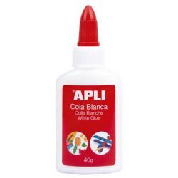 "Hobbyragasztó, 40 g, APLI ""White Glue"""