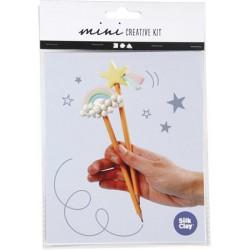 """Ceruzadíszítő szett, CREOTIME """"Mini Creative Kit Pencil"""", vegyes szín"""