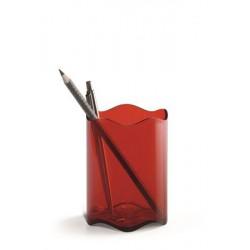 """Írószertartó, műanyag, DURABLE, """"Trend"""", áttetsző piros"""
